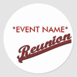 FAMILY REUNION  REUNION BANNER TEXT ROUND STICKERS