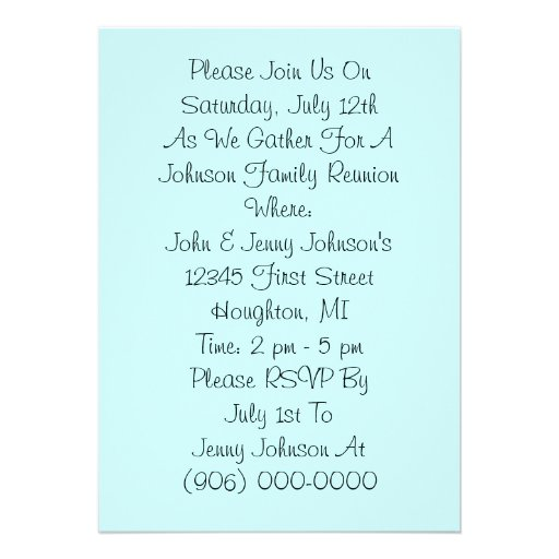 Family Reunion Rural Sunflower Porch Invitations (back side)