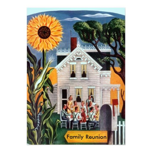 Family Reunion Rural Sunflower Porch Invitations