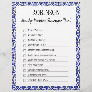 graphic about Family Reunion Scavenger Hunt Printable referred to as Scavenger Hunt Activity Presents upon Zazzle