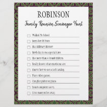 Family Reunion Scavenger Hunt Game I