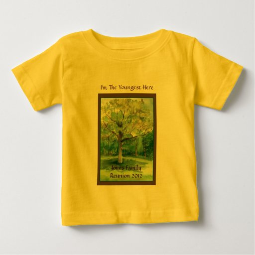 Family Reunion Shirt, Youngest, Shade Tree Baby T-Shirt | Zazzle
