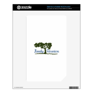 Family Reunion NOOK Color Decals