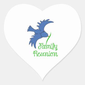 FAMILY REUNION HEART STICKER