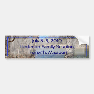 Family Reunion sticker-customize Bumper Sticker