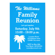 Family reunion summer party palm tree invitations at Zazzle
