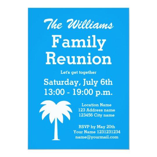 Family Reunion Summer Party Palm Tree Invitations Zazzle Com