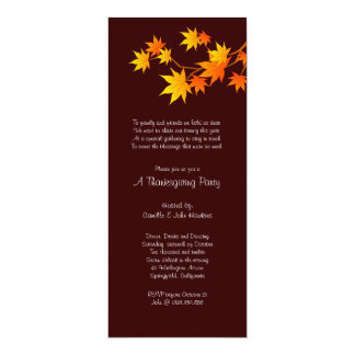 Family Reunion Thanksgiving Dinner Party Card
