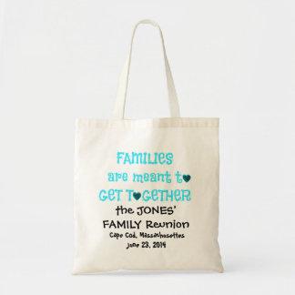 Family Reunion Totes, Black & Aqua Tote Bag