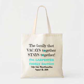 Family Reunion Totes, Black & Turquoise Tote Bag
