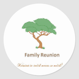 "Family Reunion Tree - 1 1/2"" Sticker(20 per sheet) Classic Round Sticker"