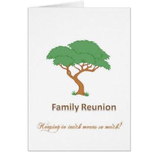 Family Reunion Tree - Blank Greeting Card