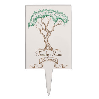 Family Reunion Tree Cake Topper