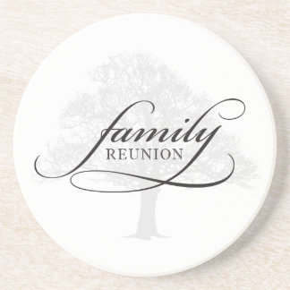 Family Reunion Tree Drink Coasters