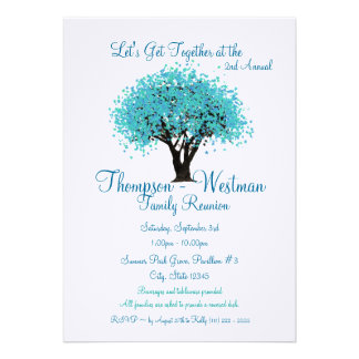 Family Reunion Tree Announcement