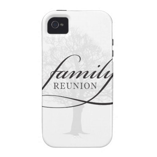 Family Reunion Tree iPhone 4 Covers