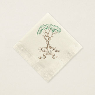 Family Reunion Tree Paper Napkin