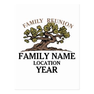 Family Reunion Tree Postcard