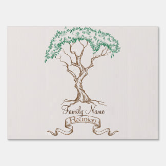 Family Reunion Tree Sign