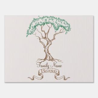 Family Reunion Tree Sign