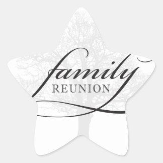 Family Reunion Tree Star Sticker