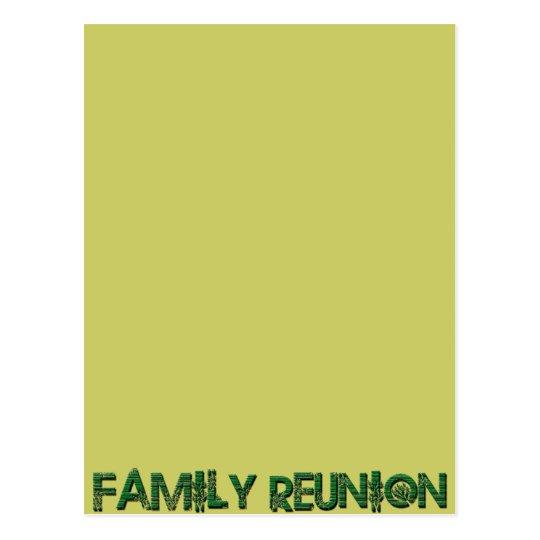 FAMILY REUNION TREE TEXT POSTCARD