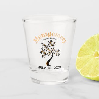 family, family reunion, party, celebration, shot glass, modern, family tree, artwork,