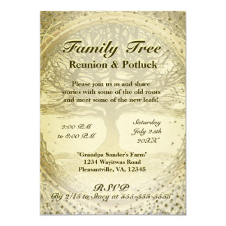 Delightful Family Reunion   Vintage Family Tree Card  Invitations For Family Reunion