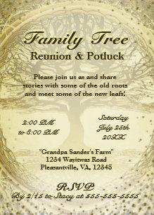 family reunion invitations zazzle
