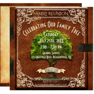 Family Reunion Vintage Look Card