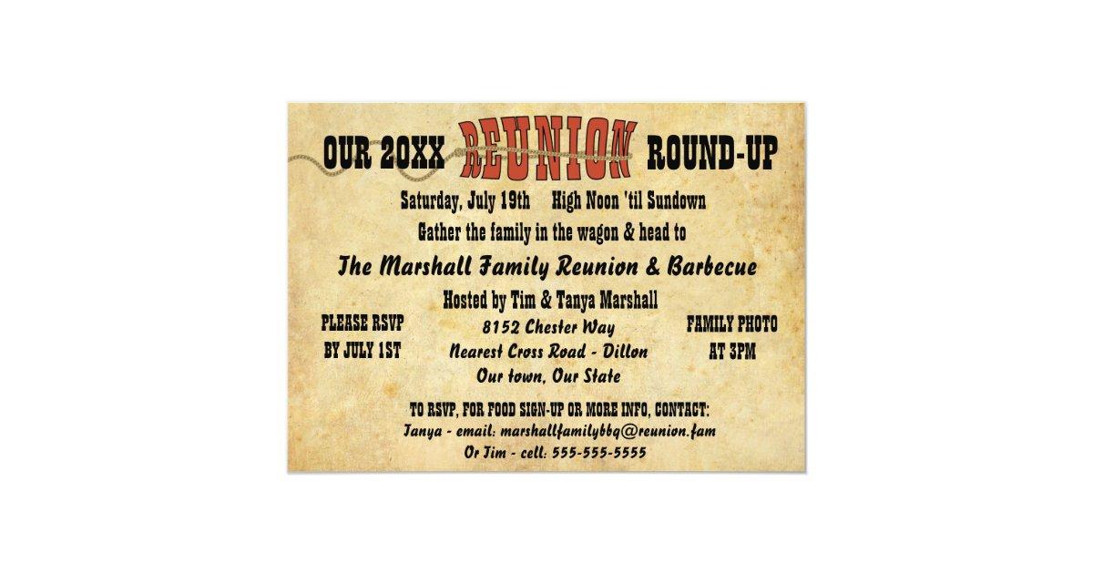 Family Reunion Vintage Western Theme