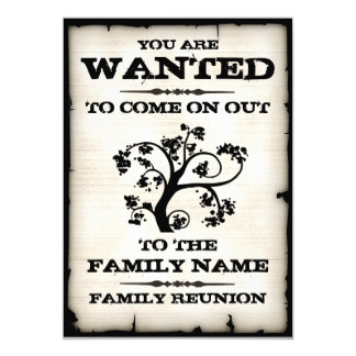 Family Reunion Wanted Invitations