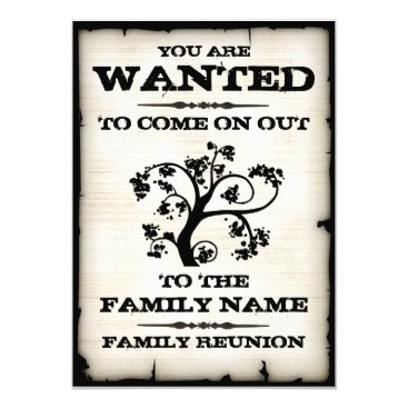 reunions Family Reunion Wanted Invitations