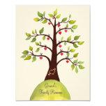 """Family Reunion Watercolor Heart Tree Invite 4.25"""" X 5.5"""" Invitation Card"""