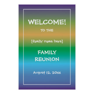 Family Reunion Welcome Sign custom