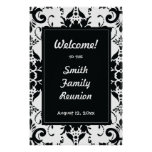 Family Reunion Welcome Sign Damask Poster