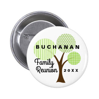 Family Reunion Whimsical Button or Pin Souvenir