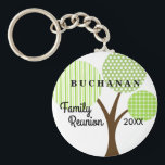 "Family Reunion Whimsical Tree Dated Souvenir Gift Keychain<br><div class=""desc"">Whimsical patterned family tree keepsake souvenir key chain is a cool and practical remembrance of your family&#39;s reunion, party, event or get-together. This is a one-sided image key chain. Part of our Whimsical Family Reunion Tree Collection which can be seen at Genealogy Greetings shop here at Zazzle. There&#39;s a direct...</div>"