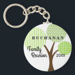 """Family Reunion Whimsical Tree Dated Souvenir Gift Keychain<br><div class=""""desc"""">Whimsical patterned family tree keepsake souvenir key chain is a cool and practical remembrance of your family&#39;s reunion, party, event or get-together. This is a one-sided image key chain. Part of our Whimsical Family Reunion Tree Collection which can be seen at Genealogy Greetings shop here at Zazzle. There&#39;s a direct...</div>"""