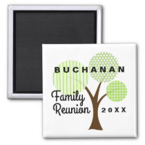 Family Reunion Whimsical Tree Souvenir Gift Magnet