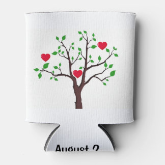 Family Reunion with Tree is Customizable Can Cooler