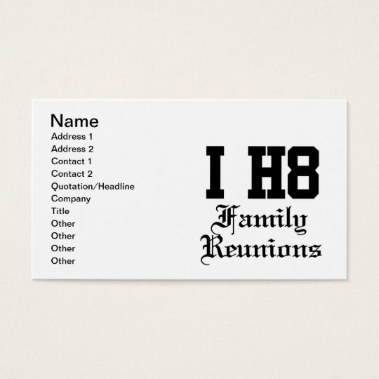 family reunions business card