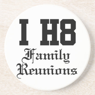 family reunions beverage coasters