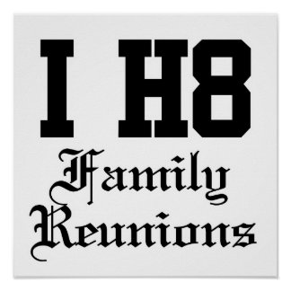 family reunions posters