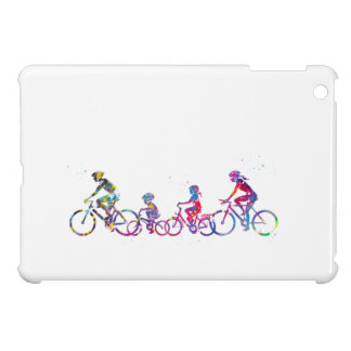 Family riding bicycle case for the iPad mini