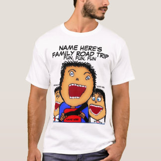 Family Road Trip Cartoon T-Shirt