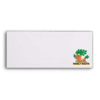 family roots cute carrot family cartoon envelope