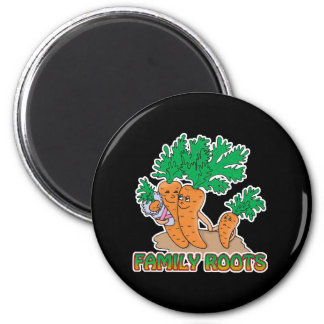 family roots cute carrot family cartoon magnet