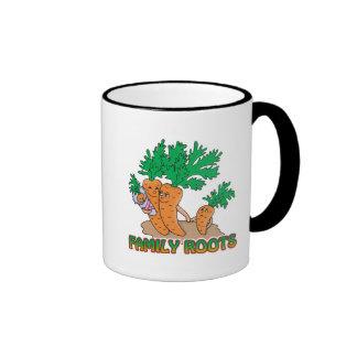 family roots cute carrot family cartoon mug