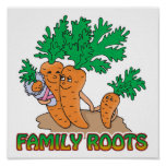 family roots cute carrot family cartoon posters